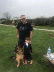 Köpeğimiz yeni sahibi ile birlikte...